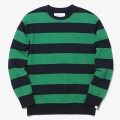 thisisneverthat Striped Crewneck NY/Green