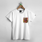 ‧KeyBoard Pocket T-Shirt / 01-WHITE