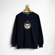 ‧Jumbo BoyFriend Long Sleeve Sweat / 15-NAVY