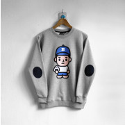 ‧ONIGIRI Boy Long Sleeve Sweat / 04-GRAY
