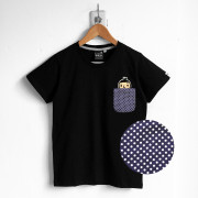 ‧BoyFriend Pocket T-Shirt / 03-BLACK / 藍底白點