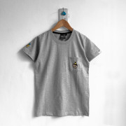 ‧Young BoyFriend Pocket T-Shirt / 04-GRAY