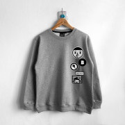‧Delicious Long Sleeve Sweat / 04-GRAY