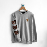 ‧Bear!Bear!Bear! Long Sleeve Sweat / 04-GRAY