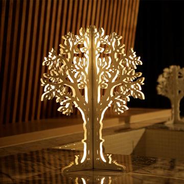 【鹿灯】北欧风格创意灯饰-巨木树(原木色-小)