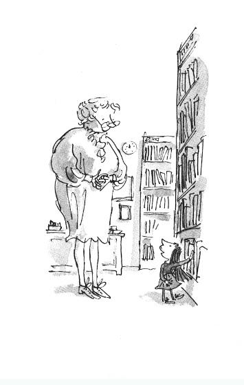 书店室内手绘线稿