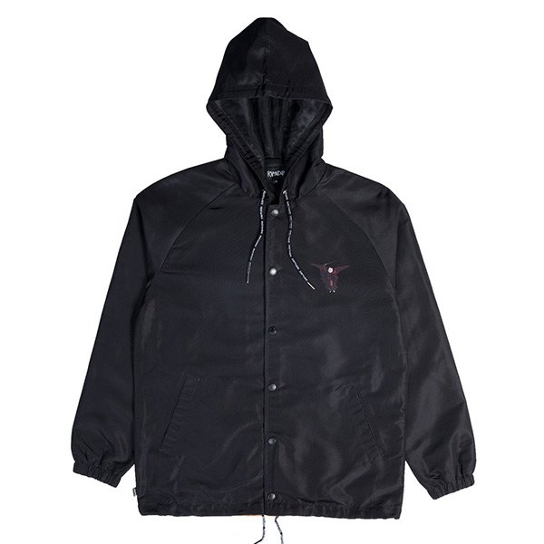 Hell Pit Hooded Coaches Jacket  地獄貓 風衣外套 黑