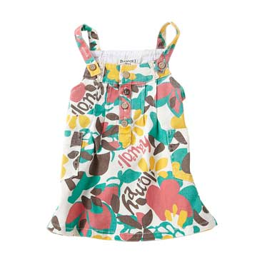 可愛系 綠碎花 -夏威夷風情碎花吊帶裙
