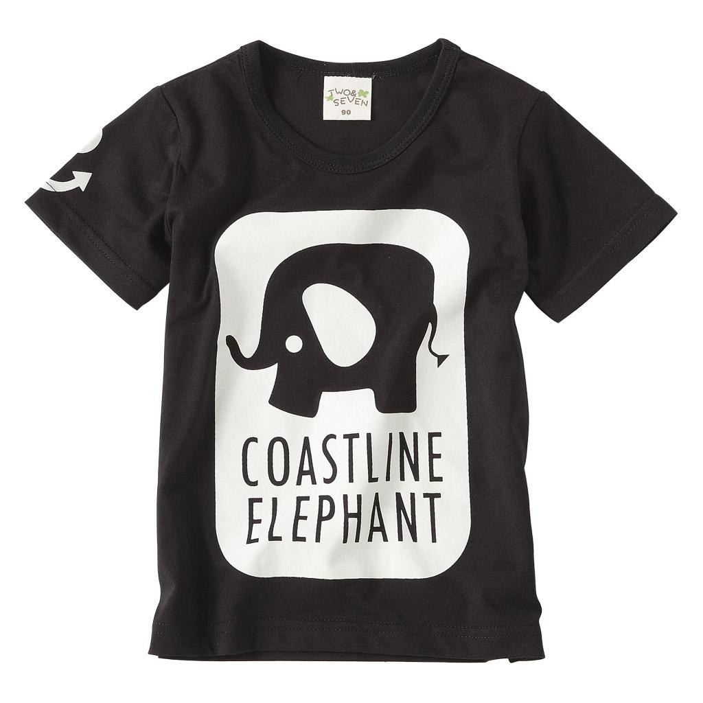 棉柔透气材质 穿著舒适有弹性 大象对比黑白剪影 让小宝贝可爱又有型