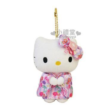 商品简介 hello kitty 凯蒂猫 绒毛玩偶吊饰 , 浓厚日系和风造型