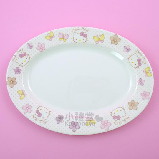 塑胶浅形盘子,适合放水果,饼乾或甜点等冷食,素雅 可爱的图案让小朋友