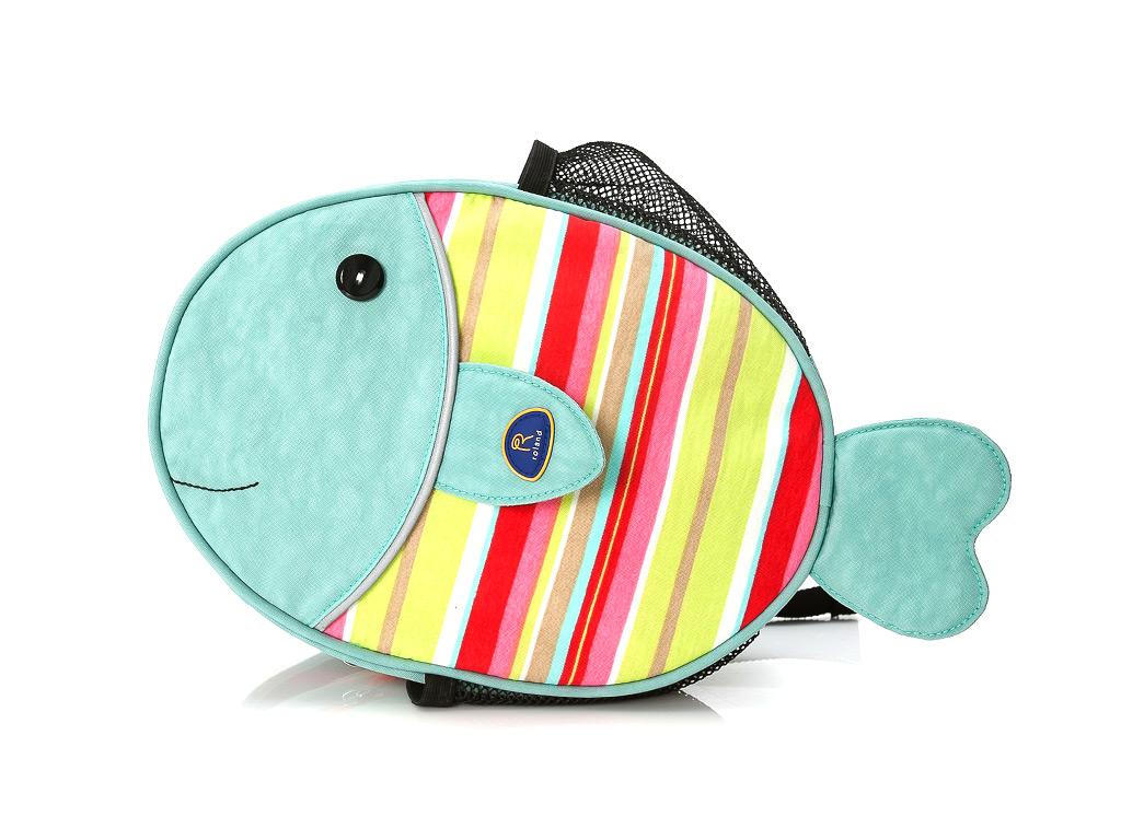 独家设计儿童小鱼背包:roland