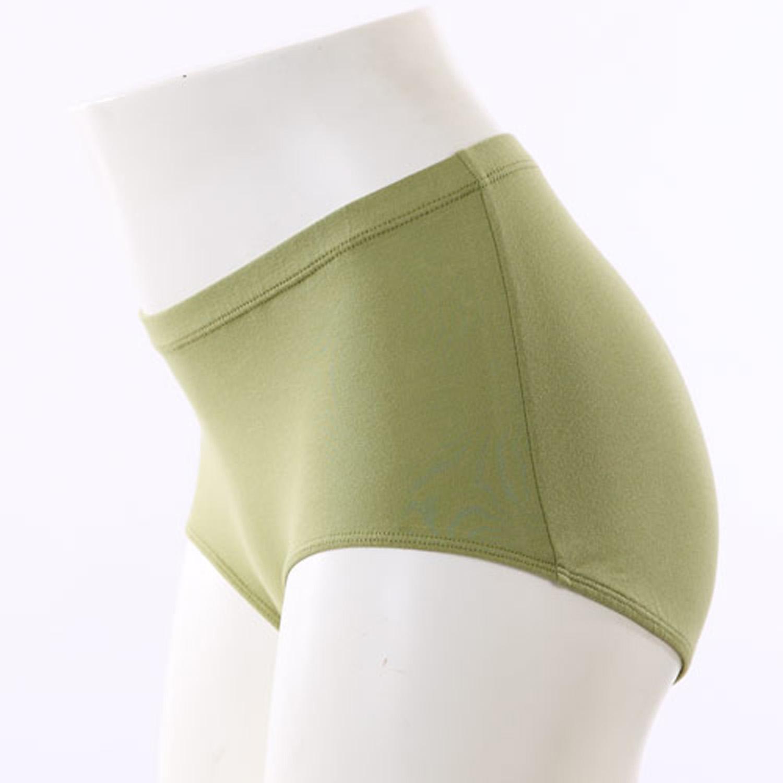 VITAL SILVERTEC 女Pima棉中低腰平口內褲
