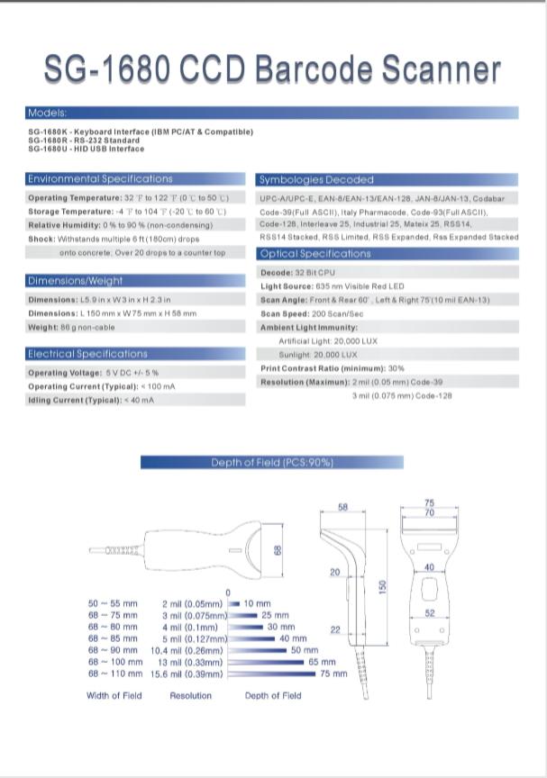 掃描器SG-1680