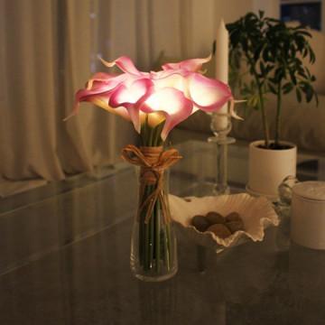 【 Via K Studio LED 】 鬱金香小盆栽 仿真花 LED 夜燈