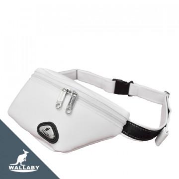 【WALLABY 袋鼠牌】MIT TPU環保素材 斜背包/單肩包/腰包 白色HMS-2003W