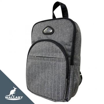 【WALLABY 袋鼠牌】MIT 單肩包 輕量外出包 防潑水 灰色/藍色/黑色