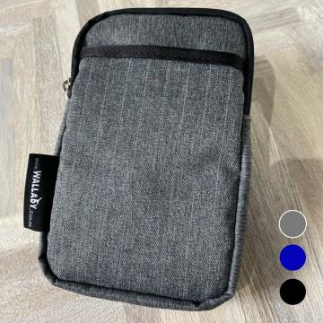 【WALLABY 袋鼠牌】MIT 手機套 外出小包防潑水 灰色/藍色/黑色