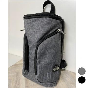 【WALLABY 袋鼠牌】MIT 大容量單肩包 輕量外出包 防潑水 灰色/黑色