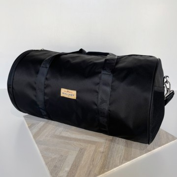 【WALLABY 袋鼠牌】MIT 台灣製造 圓筒旅行袋 行李袋 外出三天兩夜 輕量防潑水 黑色 HSK-2119BK