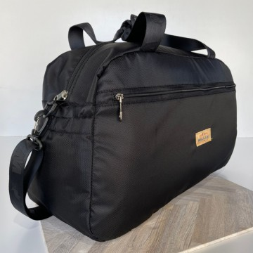 【WALLABY 袋鼠牌】MIT 台灣製造 半圓筒旅行袋 行李袋 外出三天兩夜 輕量防潑水 黑色 HSK-2120BK