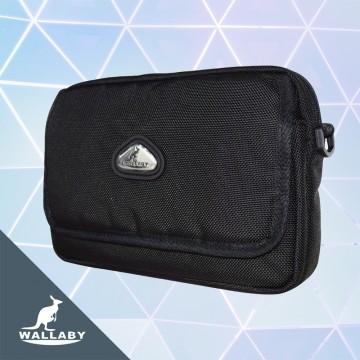 【WALLABY 袋鼠牌】MIT台灣製造 斜背包 外出包 手機包 貼身包 肩背包 側背包 HSK-2133BK