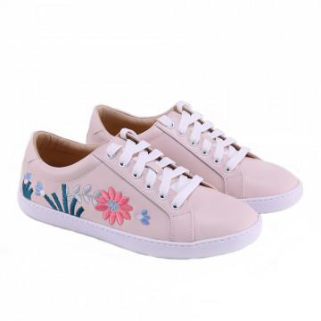 W1303牛皮休閒鞋 白粉藍三色