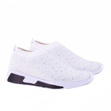 W302 休閒鞋 白鑽&黑鑽