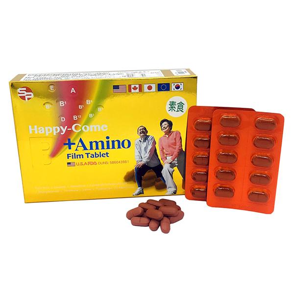 喜樂健B群+胺基酸膜衣錠 60T/盒
