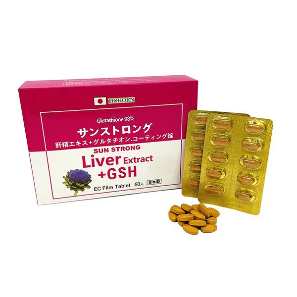 日能康肝精+GSH(穀胱甘肽)腸溶膜衣錠 60PTP/盒