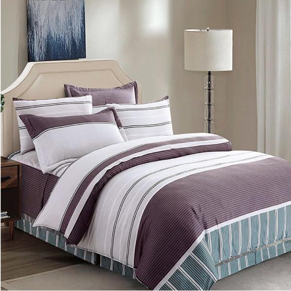 半天絲  紫色迷情  床包四件組