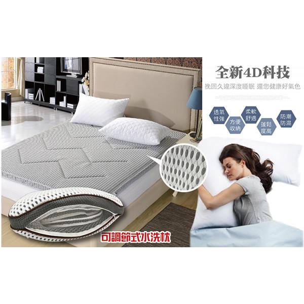 高科技4D纖維透氣網布床墊