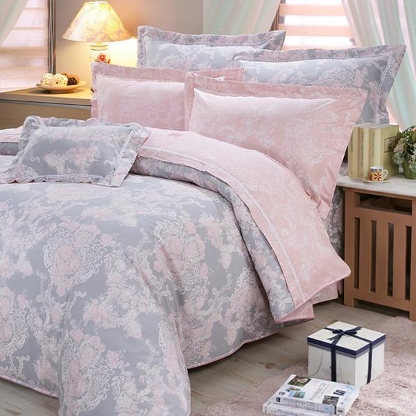 【粉】精梳棉  法式香頌 床包組 / 床罩組