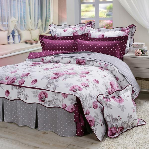 精梳棉  玫瑰情緣  床包組 / 床罩組