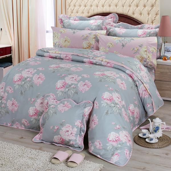 【灰】精梳棉 柔和清甜 床包組 / 床罩組
