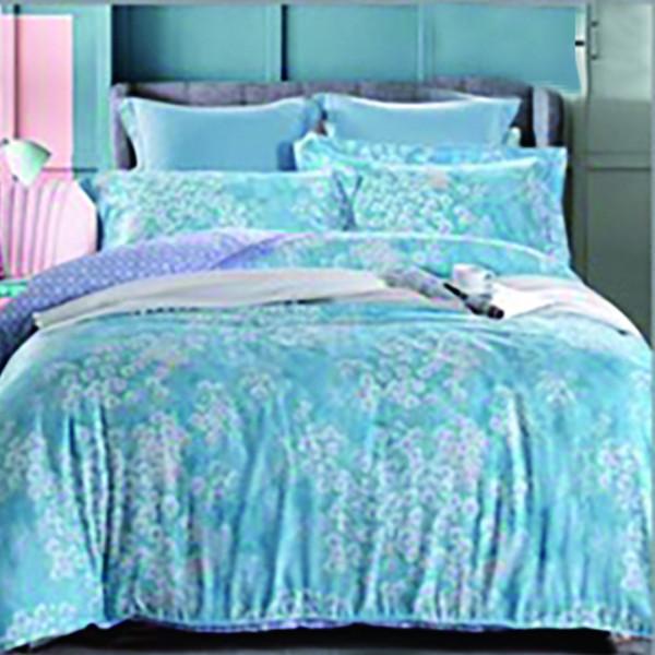 天絲 雪花藍 床包四件組