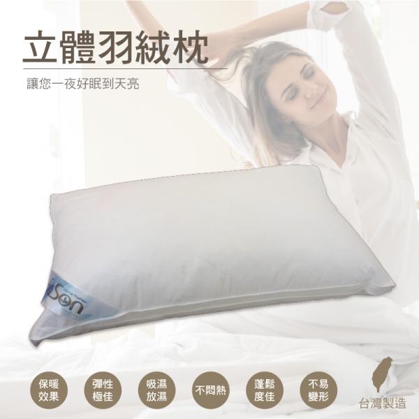 【飯店式專用】立體羽絨枕 買一送一