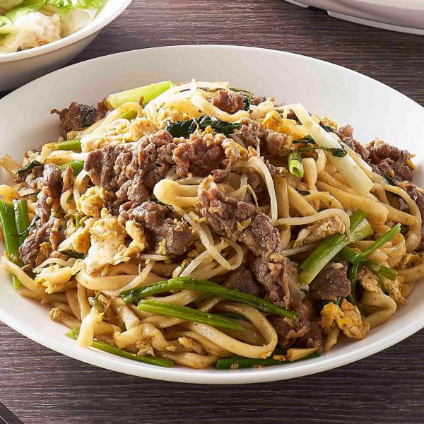 沙茶牛肉炒麵(粗麵/細麵)