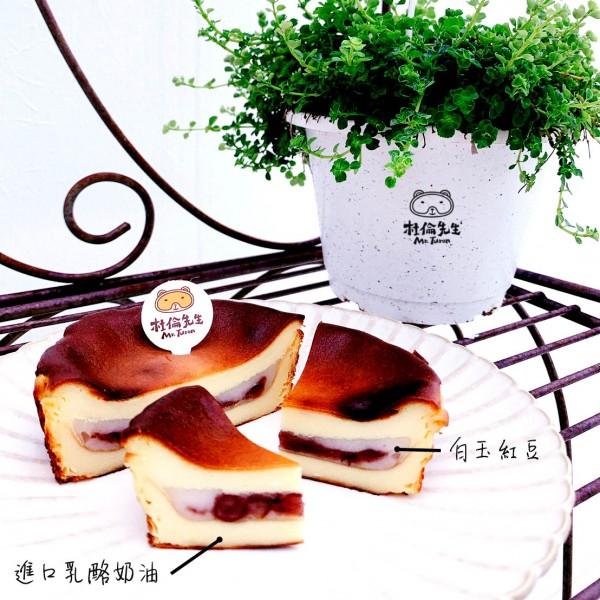 4吋巴斯克乳酪(紅豆白玉)