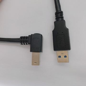 USB B/M 3.0 90度 + USB A/M 3.0 180度