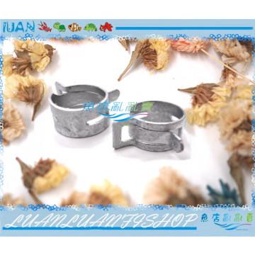 LUAN精選 彈簧金屬水管固定夾 外徑16mm專用(2入)水龍頭金屬水管夾/束管/束環/水