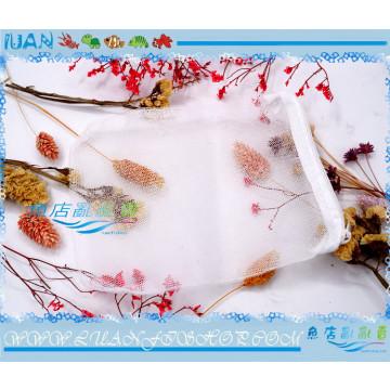 濾材拉鍊網袋(細目)19x14cm白色網袋(孔隙約1MM)可裝珊瑚砂、泥炭土、草泥丸等