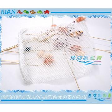 濾材拉鍊網袋(粗目)20x30cm/30x40cm白色網袋(孔隙約3MM)陶瓷環、生化球