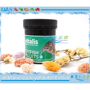 英國VITALIS CATFISH PELLETS鼠魚/底棲魚顆粒飼料(S)120g下沈性