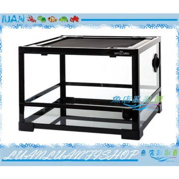 REPTI ZOO兩棲玻璃爬蟲箱ARK0116S寵物缸45x45x32cm(單門矮缸)DIY組合式