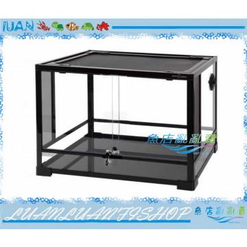 REPTI ZOO兩棲玻璃爬蟲箱ARK0207寵物缸60x45x45cm(雙門滑軌)DIY組合式