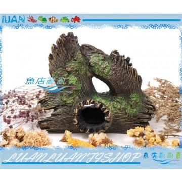 波麗纖維8898仿真樹頭洞穴(魚蝦躲避洞/躲藏屋)樹根沉木.爬蟲造景裝飾品