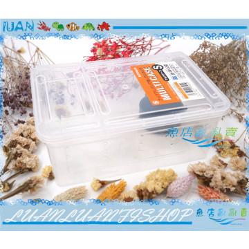 日本KOTOBUKI兩棲爬蟲塑膠飼養盒.繁殖飼育箱S(附水盆)守宮.陸龜爬蟲箱/昆蟲箱