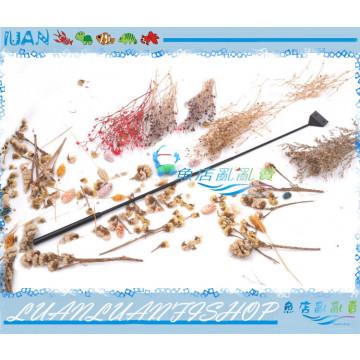 LUAN黑鑽系列65CM不銹鋼魚缸刮刀(三段可調長度散裝)清潔水痕 青苔除藻附日製刀片