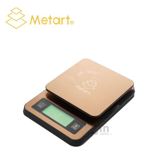 Metart 不鏽鋼計時測溫電子秤(附溫度計)-金